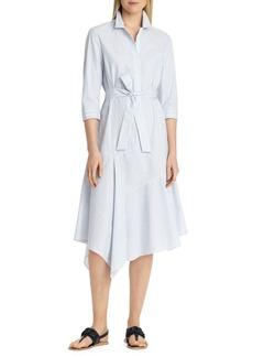 Lafayette 148 New York Stripe Handkerchief Shirtdress
