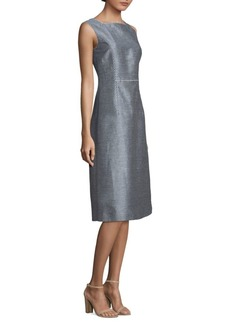 Lafayette 148 Stripe Midi Dress