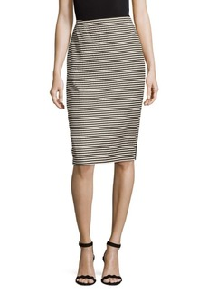 Lafayette 148 New York Stripe Pencil Skirt