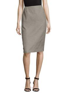 Lafayette 148 New York Stripe Pencil Skirt
