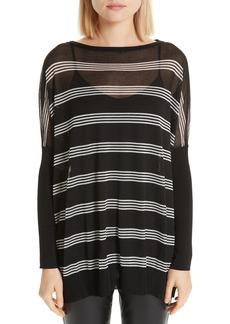 Lafayette 148 New York Stripe Slouch Pullover