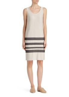 Lafayette 148 New York Stripe Sweater Dress