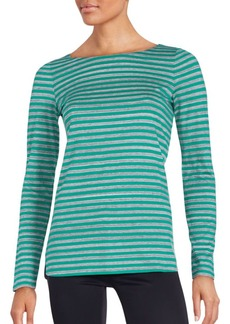 Lafayette 148 New York Striped Cotton T-Shirt