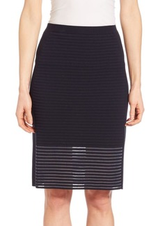 Lafayette 148 Striped Pencil Skirt
