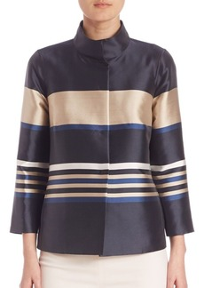 Lafayette 148 New York Striped Vanna Jacket