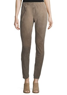 Lafayette 148 New York Suede & Ponte Riding Leggings