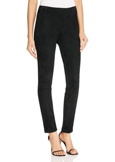 Lafayette 148 New York Suede Front Leggings