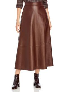 Lafayette 148 New York Sumner Midi Leather Skirt