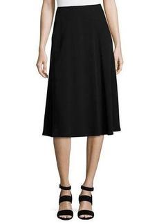 Lafayette 148 New York Suzie A-Line Crepe Skirt