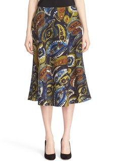 Lafayette 148 New York 'Suzie' Painterly Paisley Skirt
