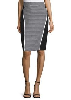 Lafayette 148 New York Sylvana Colorblock Pencil Skirt