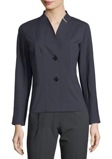 Lafayette 148 New York Tabby Notched Two-Button Tailored Jacket