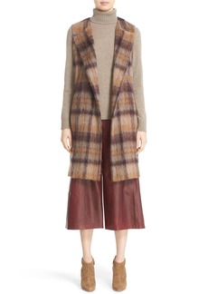 Lafayette 148 New York 'Tai' Pavillion Brushed Plaid Vest