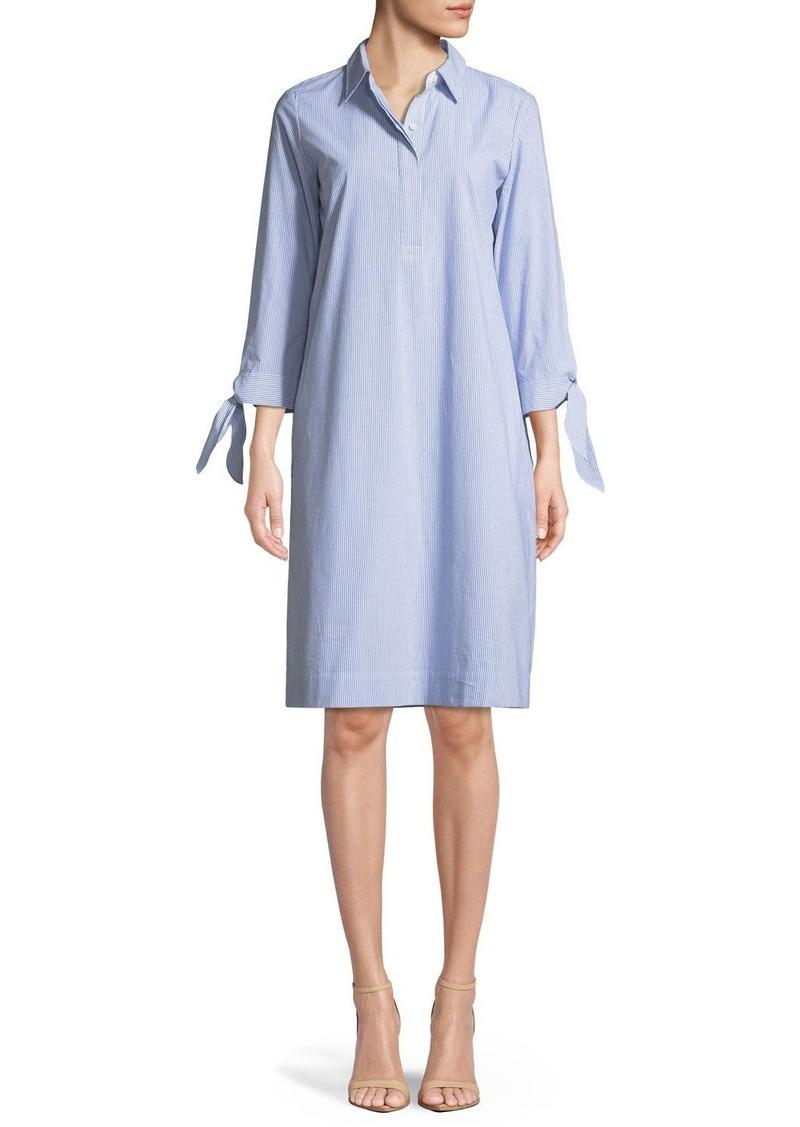 Lafayette 148 Talia Sartorial-Stripe Shirtdress