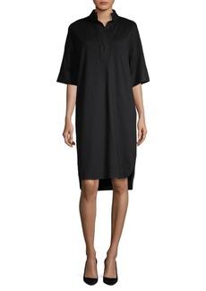 Lafayette 148 Tamara Combo Shirt Dress