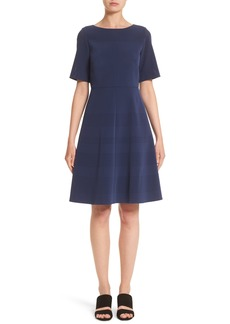 Lafayette 148 New York Tamera Perforated Fit & Flare Dress