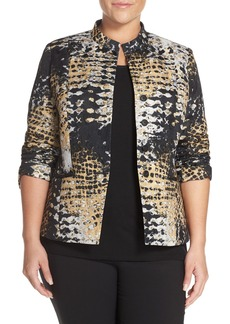Lafayette 148 New York 'Tammy' Jacquard Jacket (Plus Size)