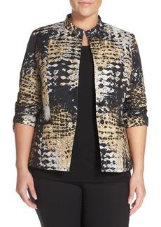 Lafayette 148 New York 'Tammy' Jacquard Jacket (Plus Size)