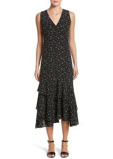 Lafayette 148 New York Taurina Tiered Silk Dress