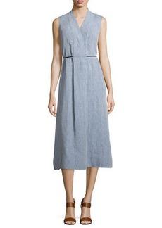 Lafayette 148 New York Tawny Sleeveless Midi Dress