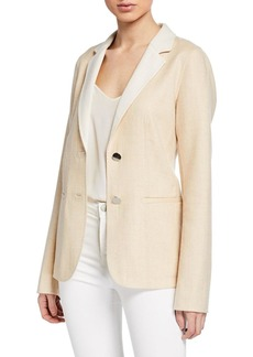 Lafayette 148 New York Terri Double-Face Two-Button Jacket