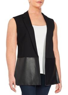 Lafayette 148 New York Textureblock Open Front Jacket