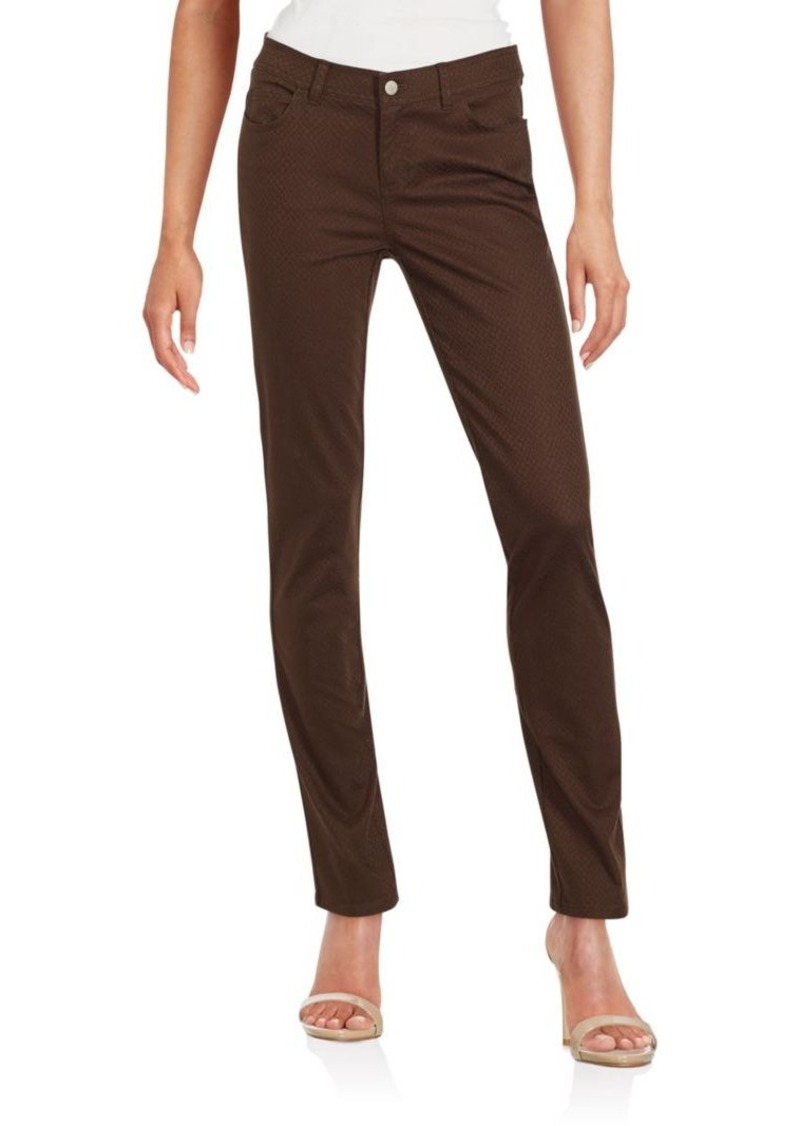 Lafayette 148 New York Textured Cotton Blend Pants