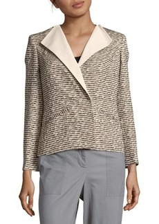 Lafayette 148 Textured Long-Sleeve Jacket