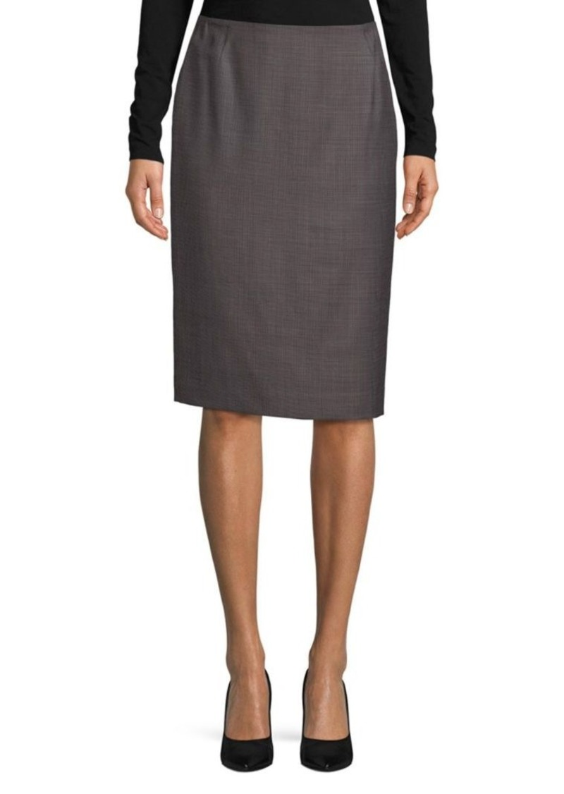 Lafayette 148 Textured Pencil Skirt