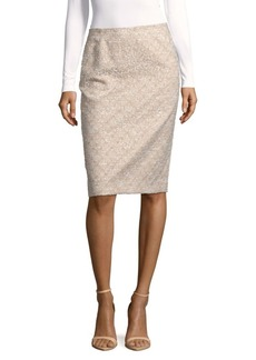 Lafayette 148 New York Textured Pencil Skirt
