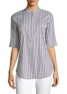 Lafayette 148 Theodora Gingham Shirt