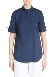 Lafayette 148 New York Theodora Stretch Cotton Blend Top