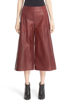 Lafayette 148 New York 'Thompkins' Lambskin Leather Culottes