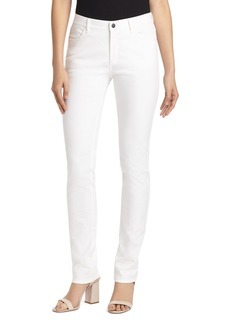 Lafayette 148 New York Thompson Chevron-Textured Jeans in White