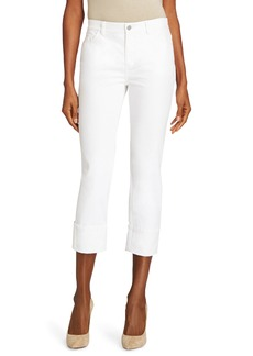 Lafayette 148 New York Thompson Cuffed Crop Jeans