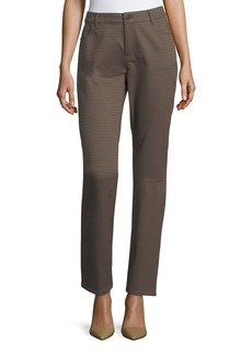Lafayette 148 Thompson Elliptical Jacquard Slim-Leg Jeans