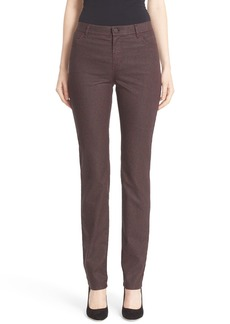 Lafayette 148 New York 'Thompson' Herringbone Print High Rise Jeans