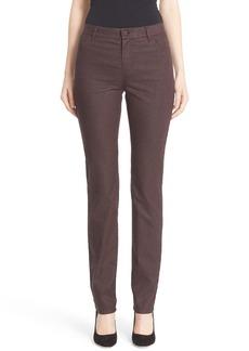 Lafayette 148 New York 'Thompson' Herringbone Print High Rise Jeans