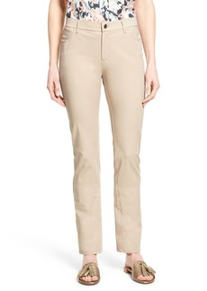 Lafayette 148 New York 'Thompson' Stretch Twill Straight Leg Pants