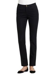 Lafayette 148 New York Thompson Waxed-Denim Jeans- White