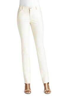 Lafayette 148 New York Thompson Waxed Slim Jeans in Ecru