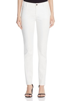 Lafayette 148 New York Thompson Waxed Slim Jeans in White