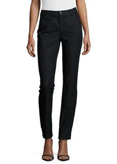 Lafayette 148 New York Thompson Yarn-Dyed Denim Slim-Leg Jeans