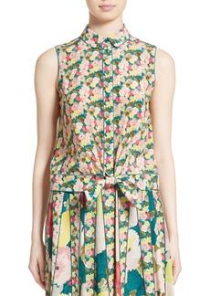 Lafayette 148 New York Tisha Floral Silk Blouse