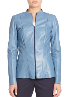 Lafayette 148 New York Tissue Weight Eliza Leather Jacket