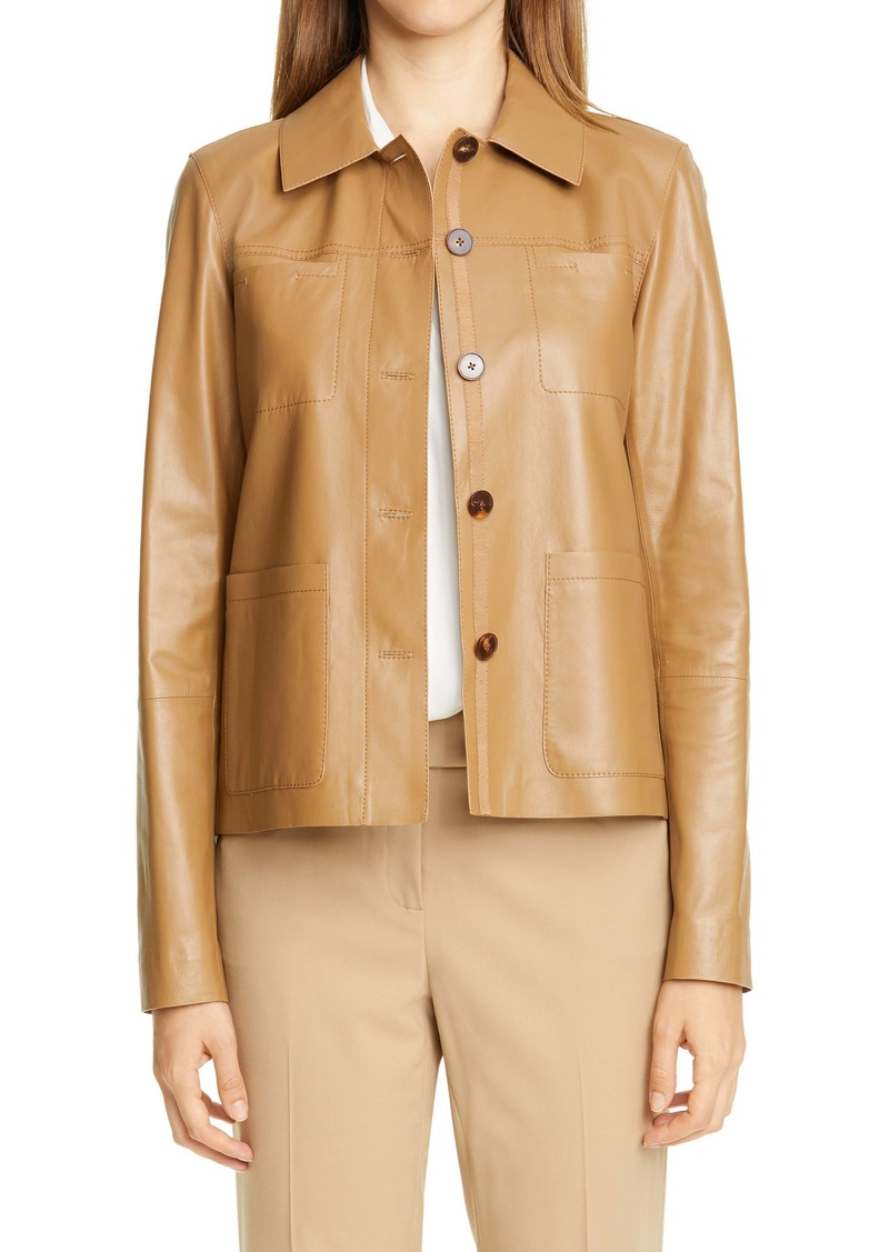 Lafayette 148 New York Tomasa Leather Jacket