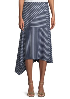 Lafayette 148 New York Tori Imperial Stripes Skirt