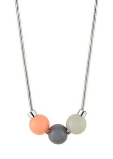 Lafayette 148 New York Tricolor Bead-Drop Necklace