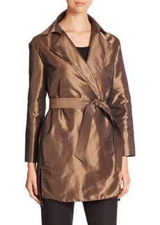 Lafayette 148 New York Trinity Belted Hunter Topper