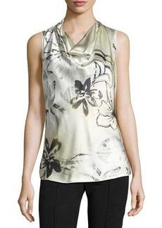 Lafayette 148 New York Trish Silk Floral-Print Top